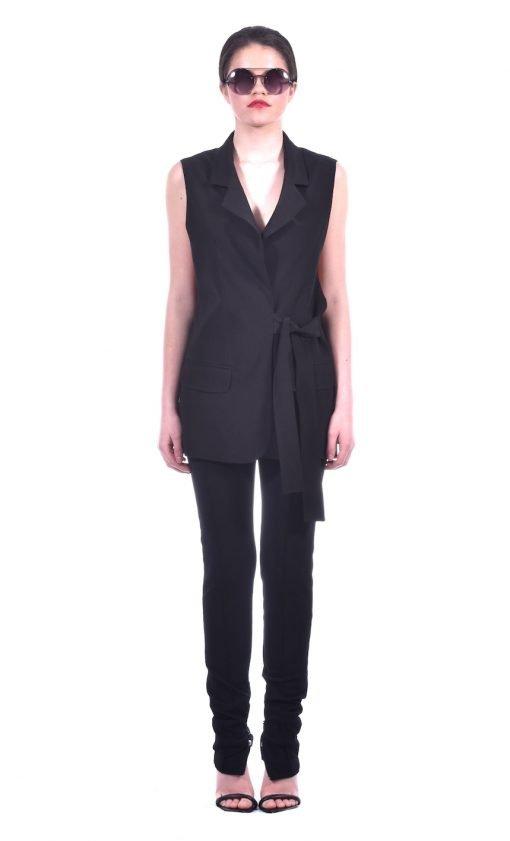 tailored sleeveless blazer