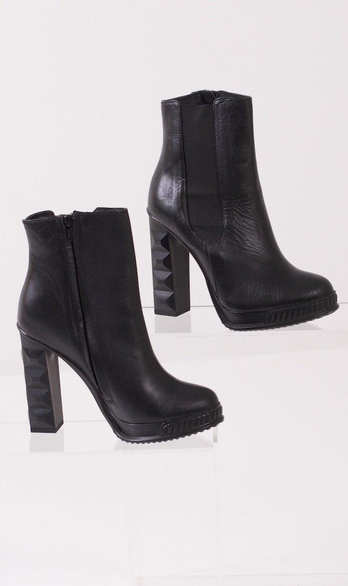 Black Heeled Ankle Boots - Identity Fashion
